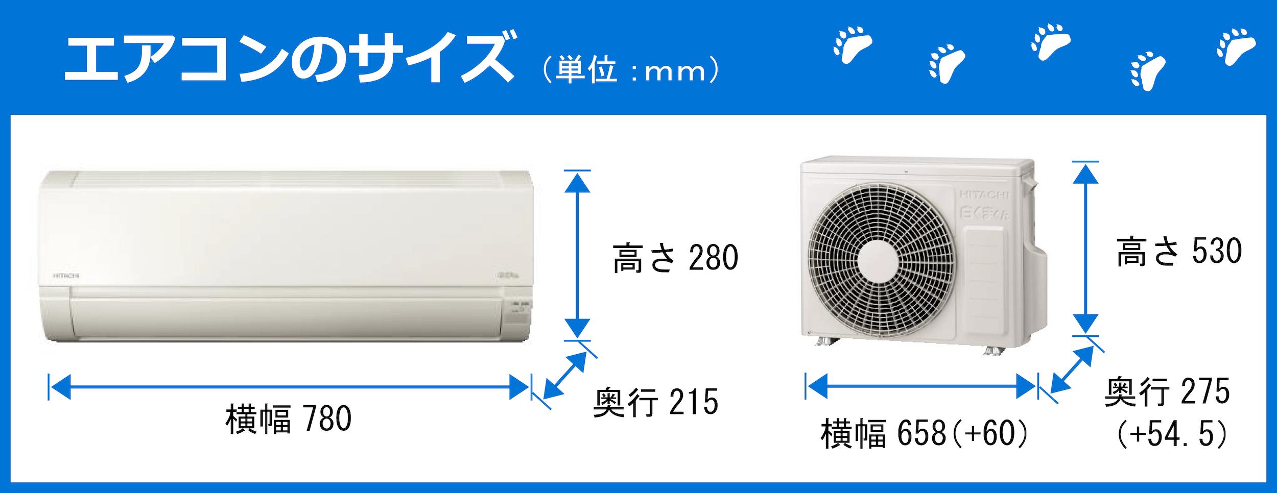 エアコンのサイズ